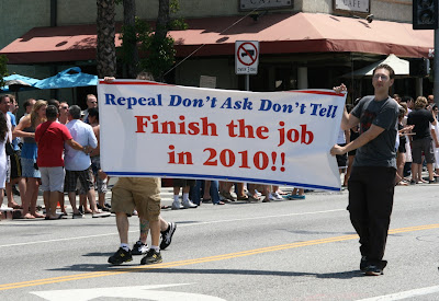 Repeal don't ask don't tell LA Pride 2010