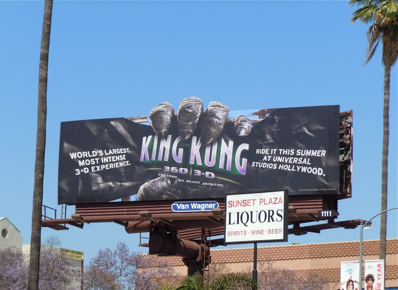 King Kong 3D ride Universal Studios billboard