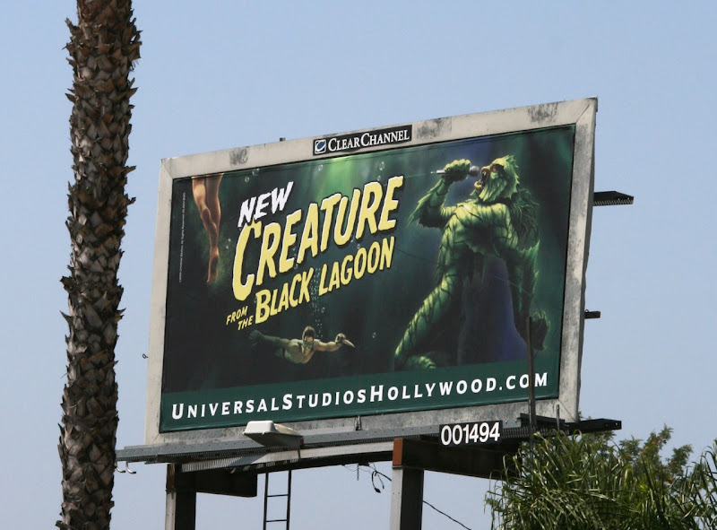 Universal Studios Creature from the Black Lagoon musical billboard