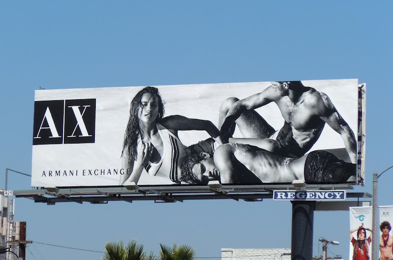 Armani Exchange hot beach bodies billboard
