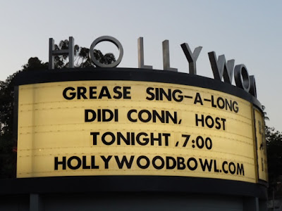 Singalong Grease Hollywood Bowl sign