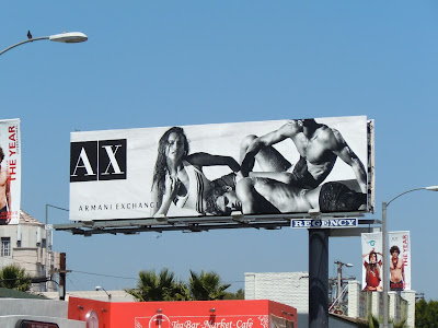 Armani Exchange swimwear billboard