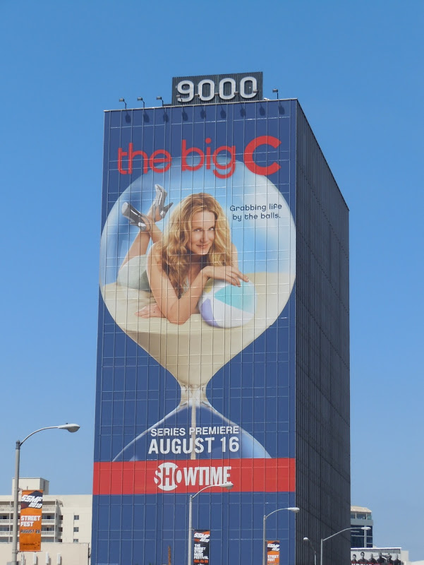 The Big C hourglass TV billboard