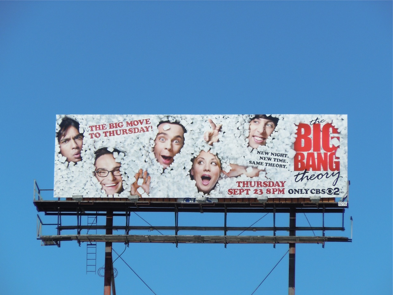 Big Bang Theory season 4 TV billboard