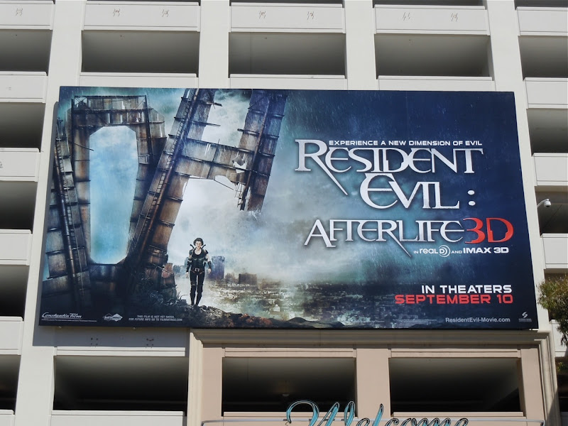 Resident Evil Afterlife movie billboard