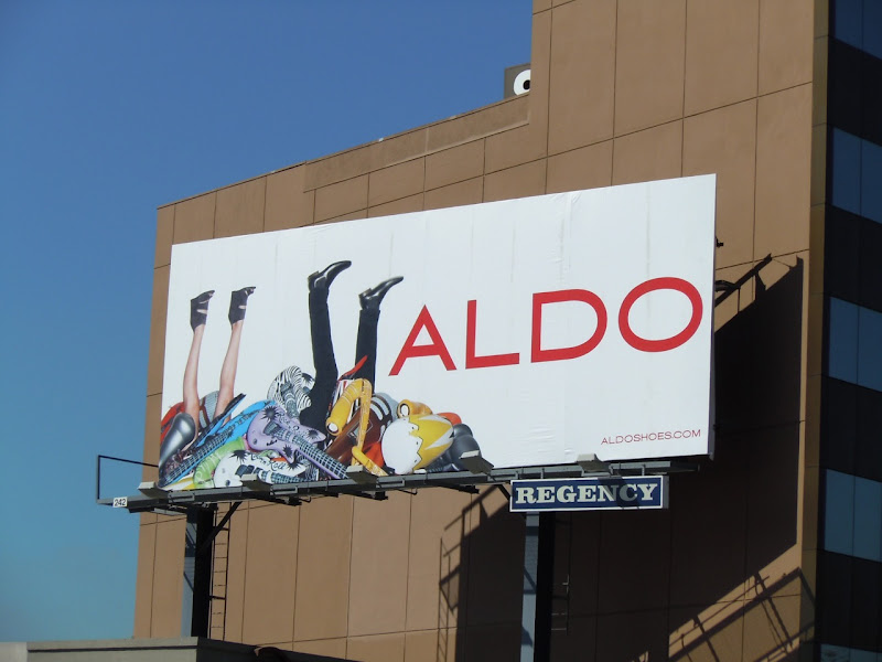 Aldo Shoes legs in the air billboard