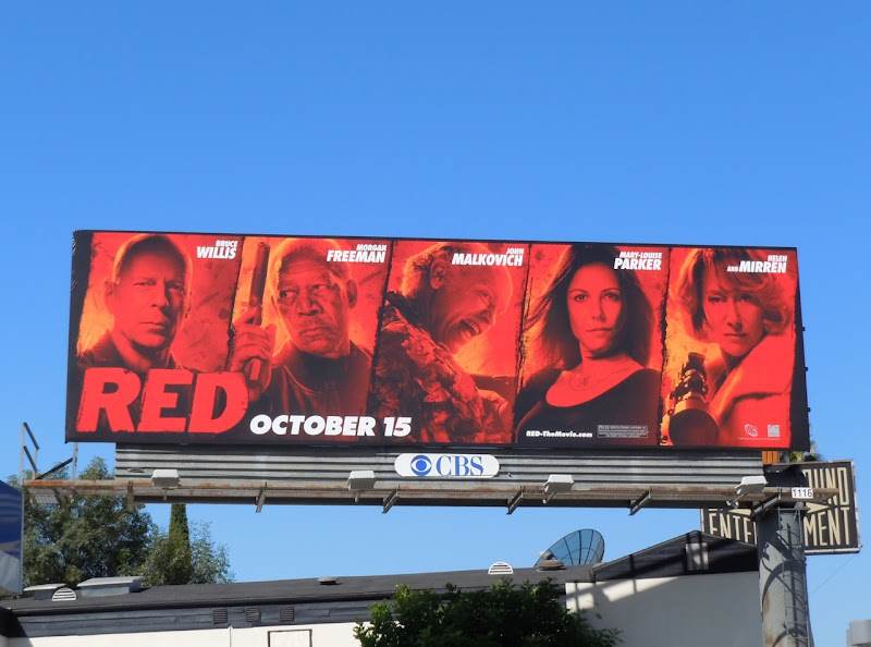 Red movie billboard
