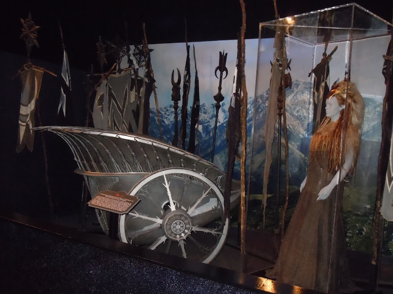 Narnia's White Witch chariot and film costume