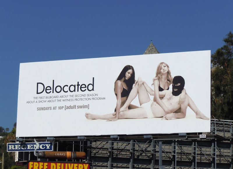Delocated season 2 TV billboard