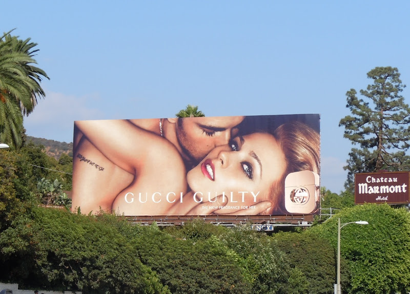 Gucci Guilty billboard Sunset Strip