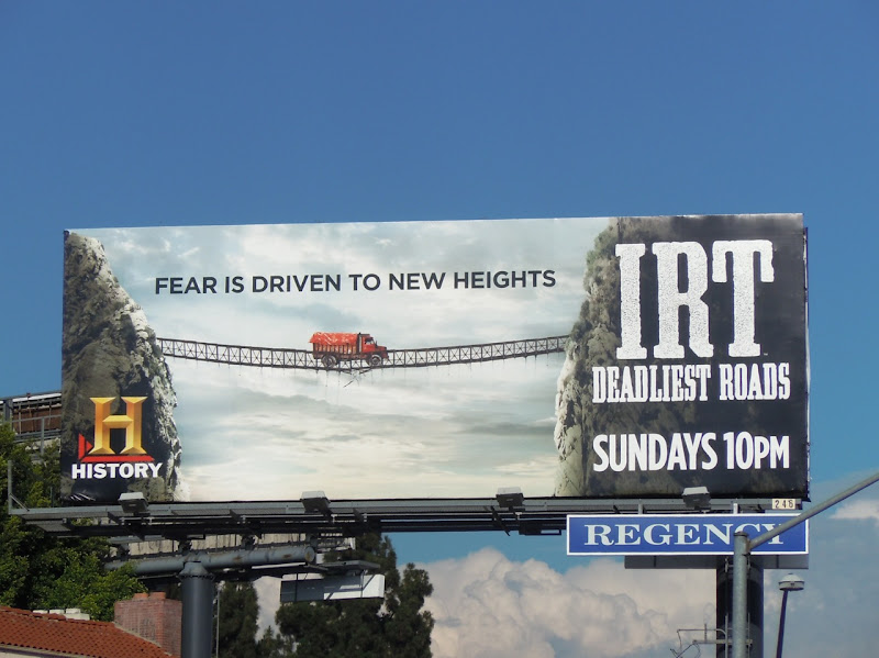 IRT Deadliest Roads TV billboard