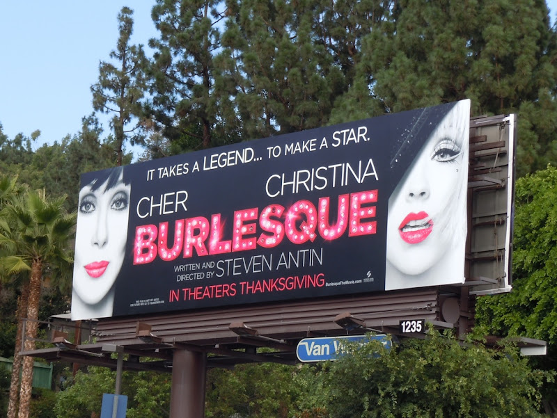 Burlesque movie billboard
