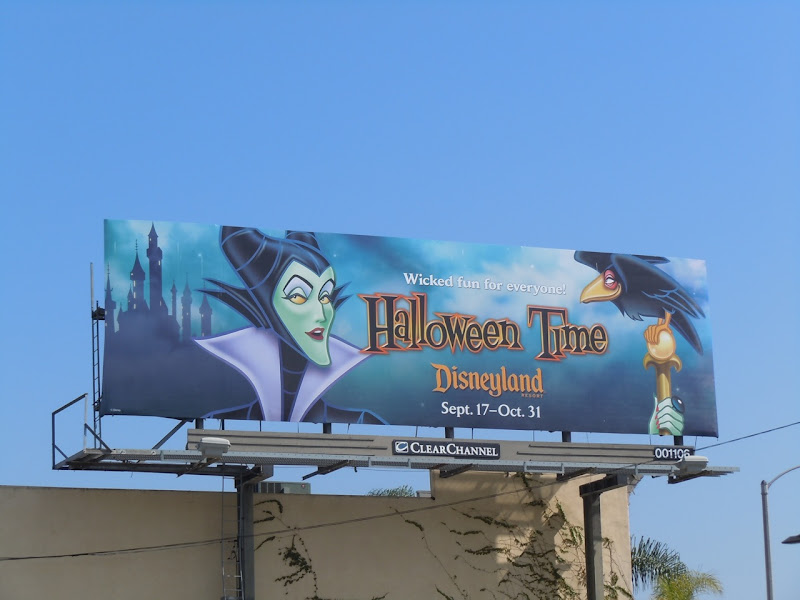 Maleficent Disney Halloween Time billboard