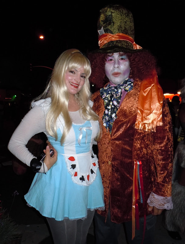 Alice and Mad Hatter West Hollywood Halloween Carnaval