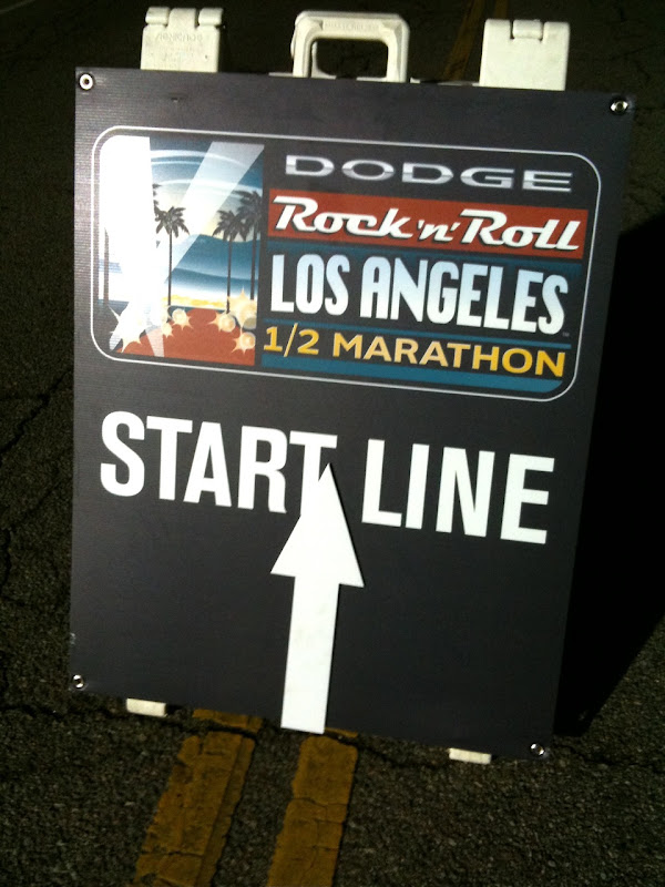 Rock n Roll LA Half Marathon start 2010