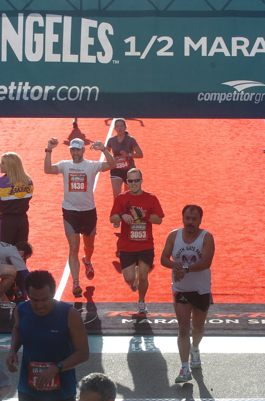 Rock 'n' Roll LA Half Marathon Finish