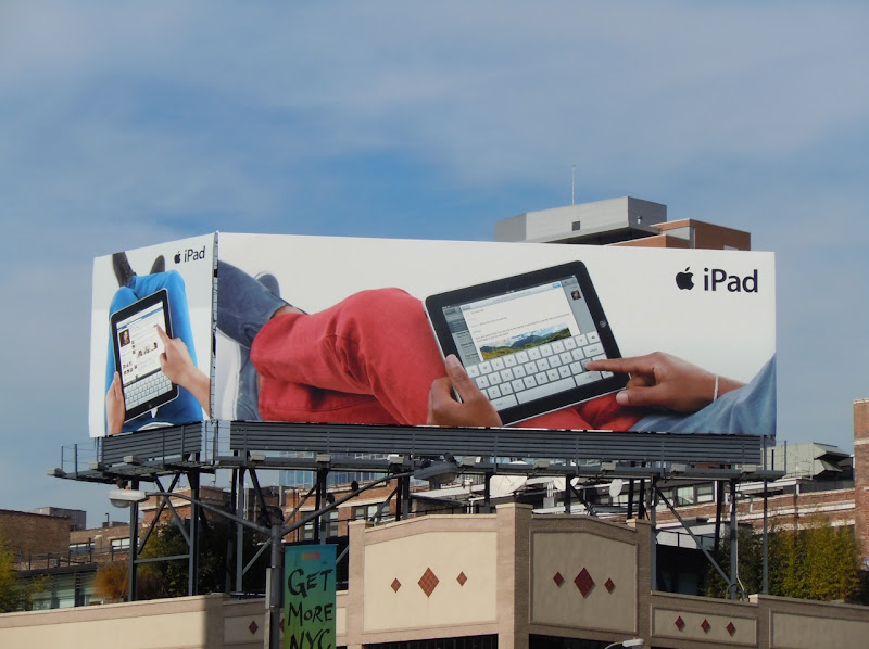 Apple iPad billboards NYC