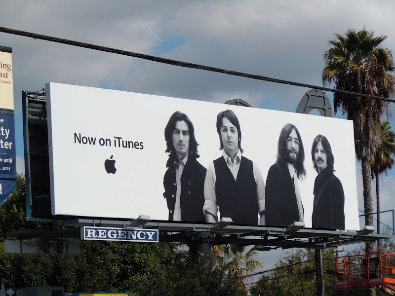 The Beatles iTunes billboard
