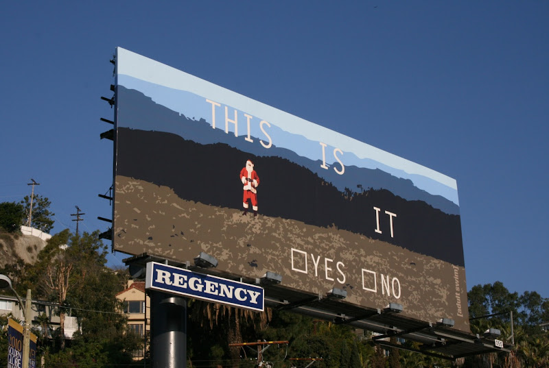 Adult Swim This is it Santa billboard