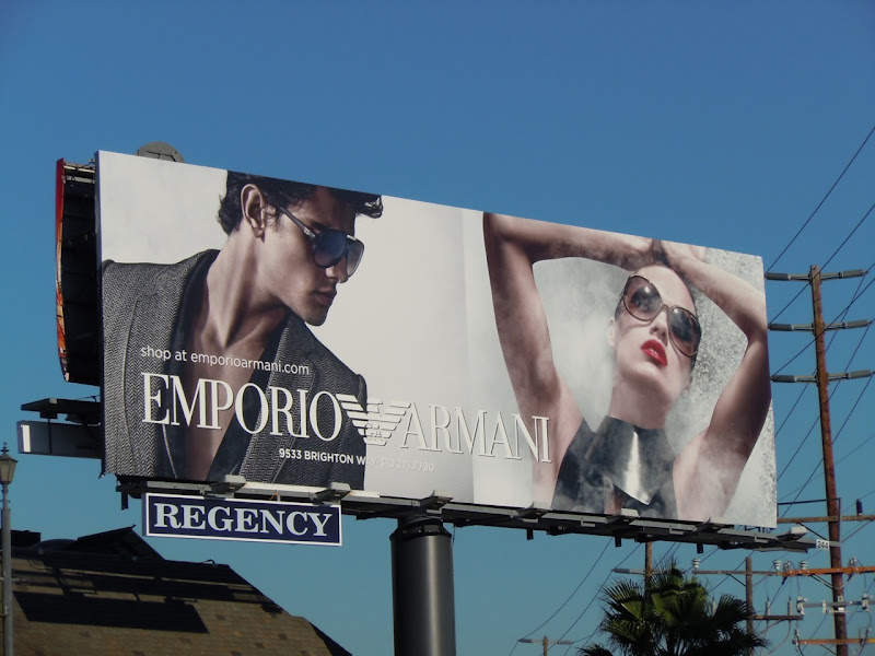 Emporio Armani sunglasses 2010 billboard