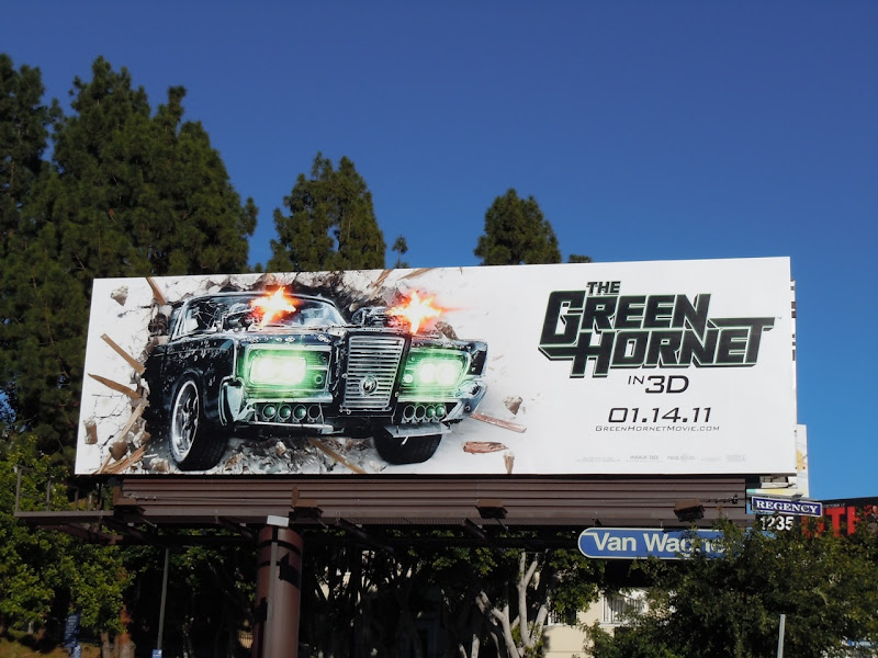 The Green Hornet movie billboard