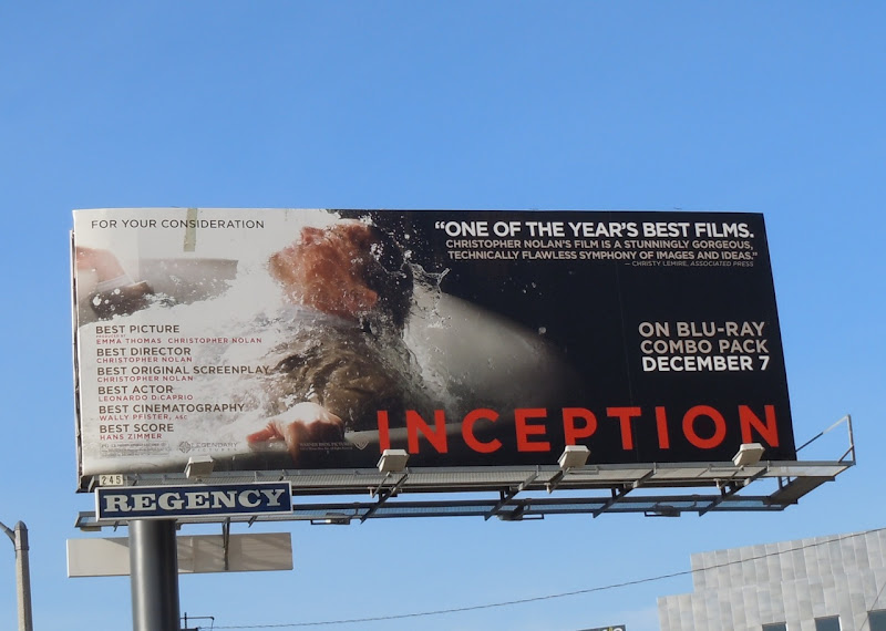 Inception bath tub movie billboard