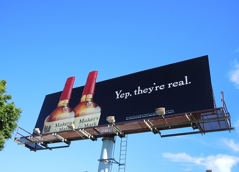 Yep they're real Maker's Mark billboard