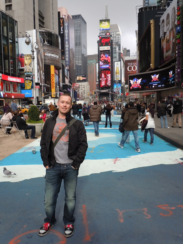Jason in Times Square NYC