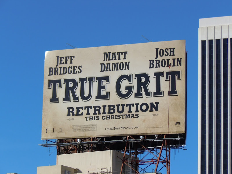 True Grit remake billboard