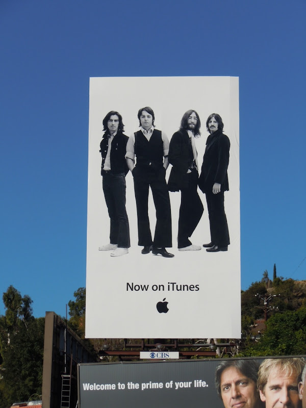 Beatles iTunes billboard
