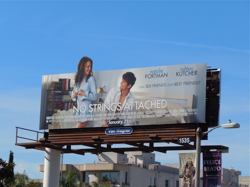 No Strings Attached movie billboard