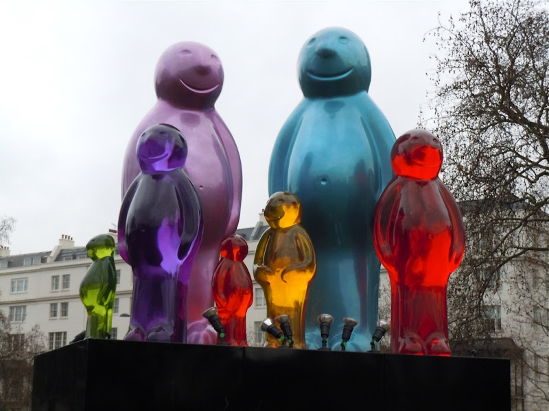 Jelly Baby Family sculpture Marble Arch