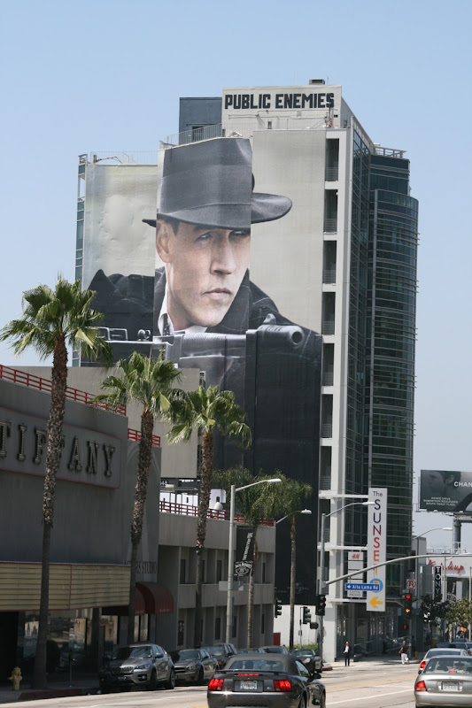 Public Enemies Sunset Strip billboard