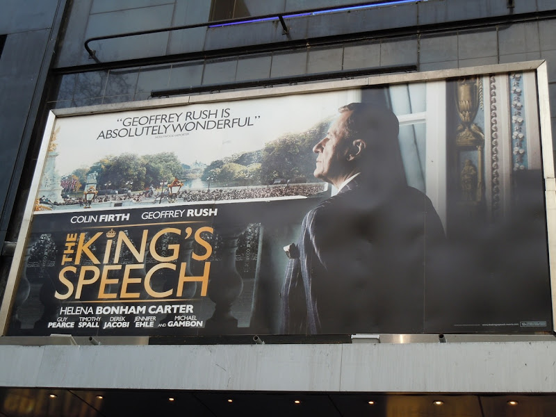 The King's Speech film billboard