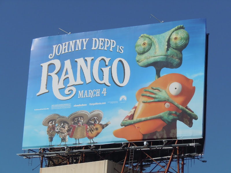 Rango movie billboard