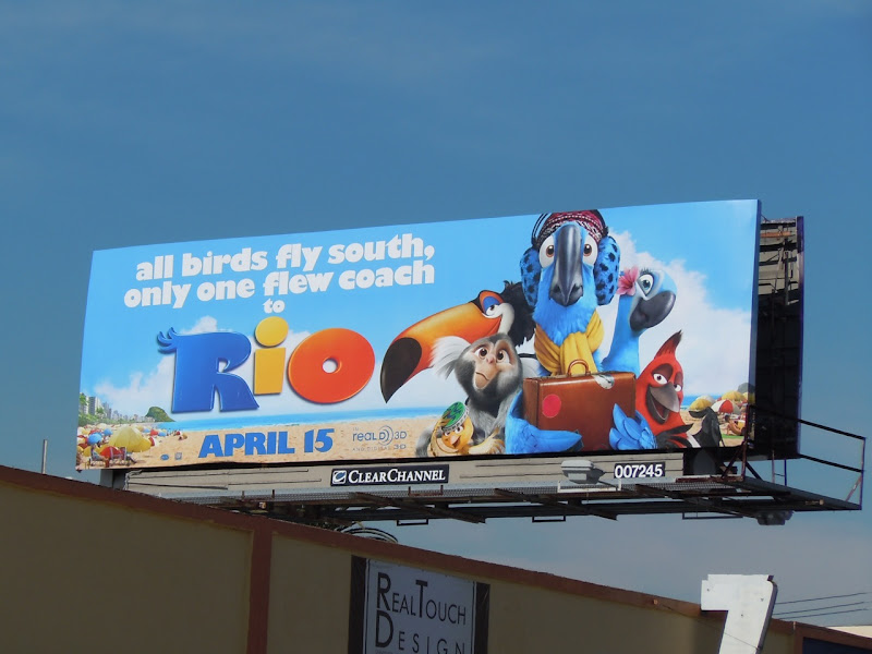 Rio flew coach movie billboard