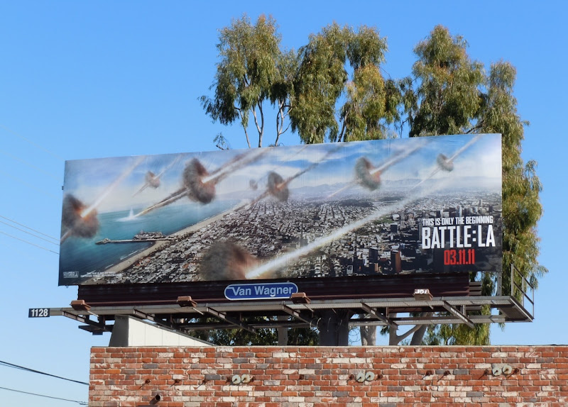 Battle LA film billboard