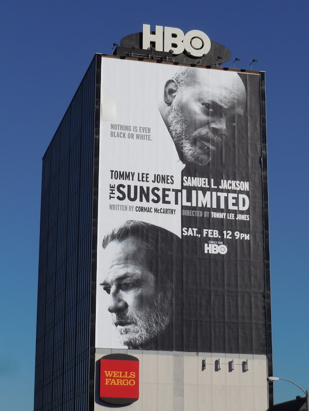 The Sunset Limited HBO movie billboard