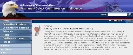 06/08/09 June 8, 1967 - Israel attacks USS Liberty During the Six-Day War, Israeli aircraft and torpedo boats attack the USS Liberty in international waters off Egypt's Gaza Strip. The intelligence ship, well-marked as an American vessel and only lightly armed, was attacked first by Israeli aircraft that fired napalm and rockets at the ship. The Liberty attempted to radio for assistance, but the Israeli aircraft blocked the transmissions. Eventually, the ship was able to make contact with the U.S. carrier Saratoga, and 12 fighter jets and four tanker planes were dispatched to defend the Liberty. When word of their deployment reached Washington, however, Secretary of Defense Robert McNamara ordered them recalled to the carrier, and they never reached the Liberty. The reason for the recall remains unclear.