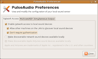 Sound sharing with ubuntu