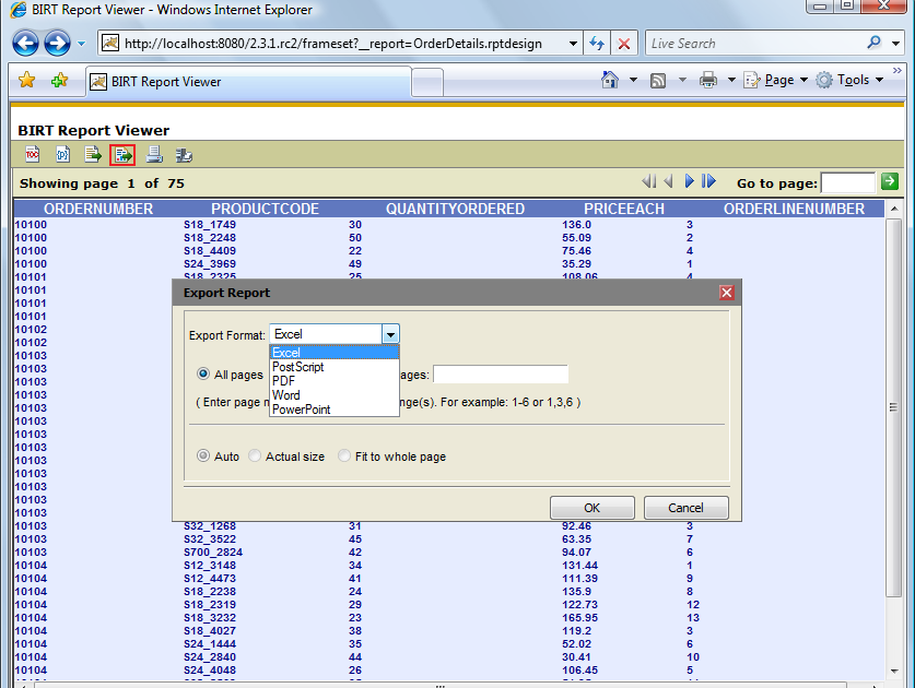 BIRT World: Naming Exported files from the BIRT WebViewer