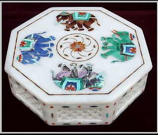 Marble Inlay Art Boxes