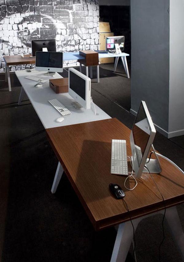 Urban Modern Office Interior Decor Furniture Clamp Desk