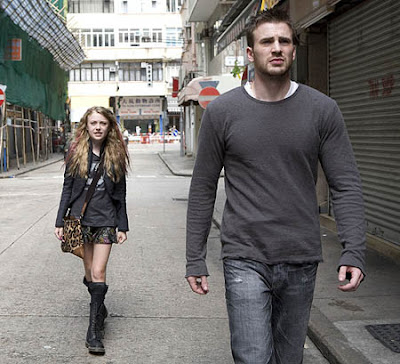 Dakota Fanning and Chris Evans in the movie Push