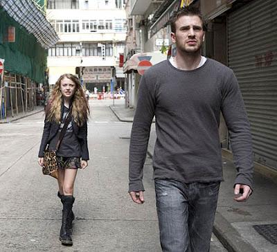 Dakota Fanning and Chris Evans in the movie Push
