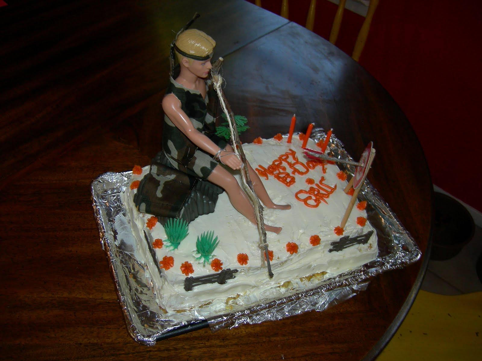 Beef Caker Bow Hunting Ken Barbie Cake