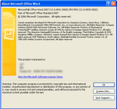 How To Know The Version Of Office 2007 | Office 2007 Version