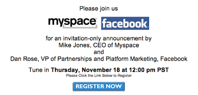 Myspace Facebook Partnership