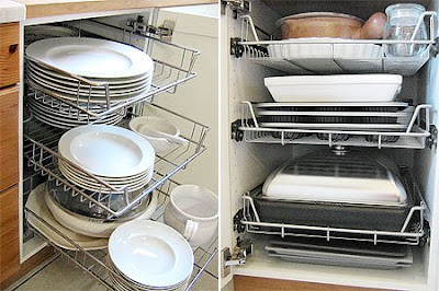 More space in a kitchen base cabinet