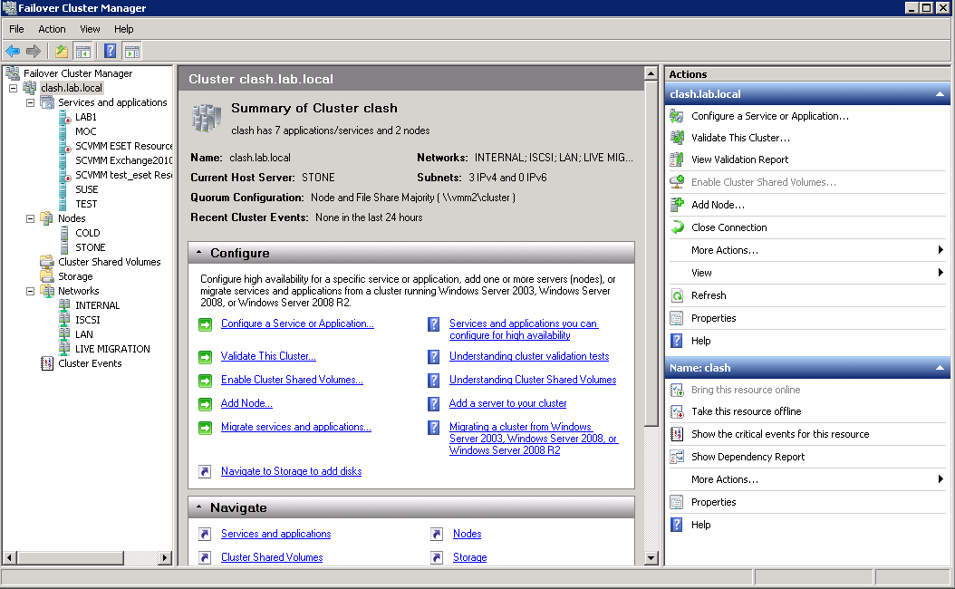 Virtualization and some coffee: Failover Cluster Manager, SCVMM, and